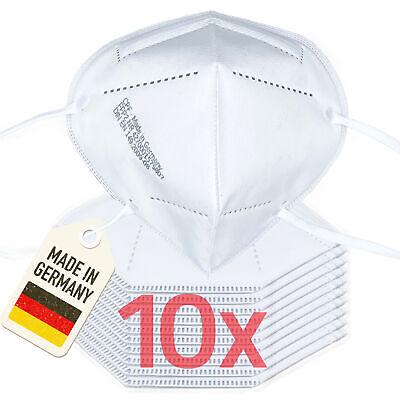 10er Pack 3-lagige FFP2 Maske Mundschutz | in Deutschland hergestellt