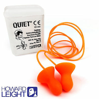 1 Pair Reusable HOWARD LEIGHT by Honeywell Ear Plugs - Quiet Corded Earplugs