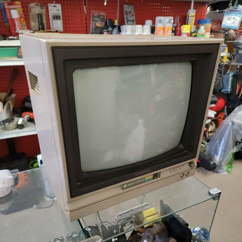 Commodore Video Monitor Model 1701 Powers Up