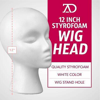 Female Styrofoam Foam Mannequin Manikin Head Stand Model Display Wig Hat Glasses