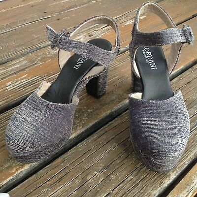 Cordani Gray Corduroy Velvet Platform Mary Jane High Heels 7 EU 39 Womens Shoes