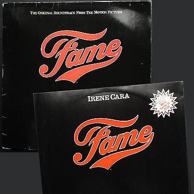 "2-disc joblot! FAME soundtrack LP +12"" Irene Cara Michael Gore 1980 Paul McCrane"