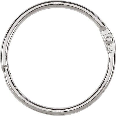 1.5 Inches 25 Pack Loose Leaf Binder Rings Book Ring Silver Sparco 01438