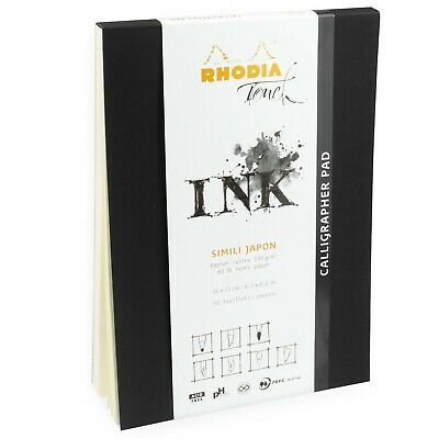 Rhodia Touch Ink Calligrapher Pad Sketchbook - A5 - 50 Ivory Sheets - 130gsm