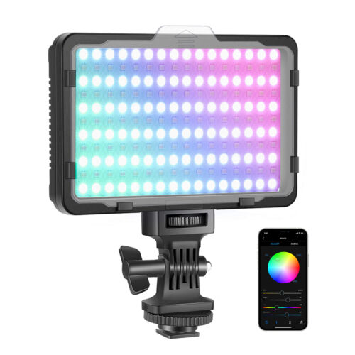 Neewer Video Light with APP Control 360° Full Color Led Camera Light CRI95