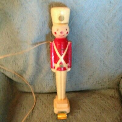 "VINTAGE CHRISTMAS 1968 UNION 16 1/2"" HARD PLASTIC TOY SOLDIER BLOW MOLD"