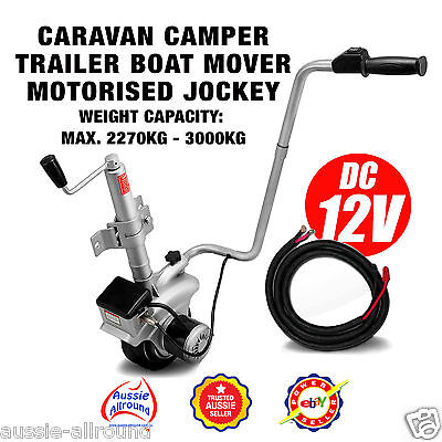 12V Jockey Wheel Caravan Camper Trailer Boat Mover Largest Cap Motor On Market!