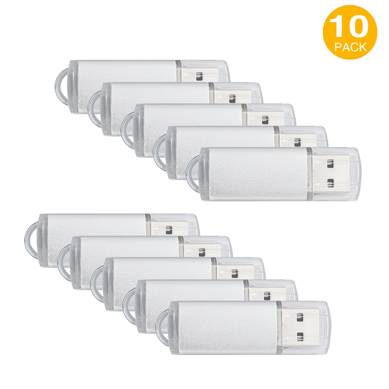 10Pack 1G 2G 4G 8G 16G USB Flash Drive Memory Stick Rectangle Thumb Pen Storage 121