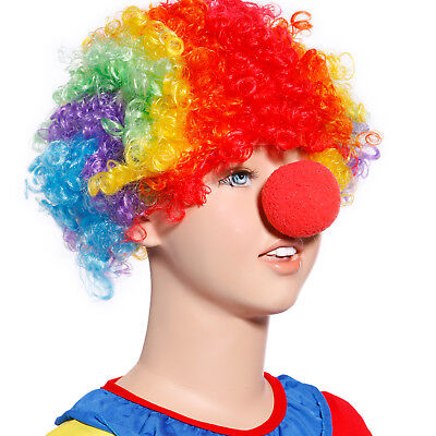 Rote Nase Karneval Klamotten Perücke Clown Kostüm Zubehör Zirkus - Rote Kostüm Zubehör