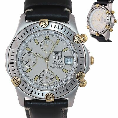 Tag Heuer Professional 2000 Automatic Chronograph Steel Gold Tone 165.806 Watch