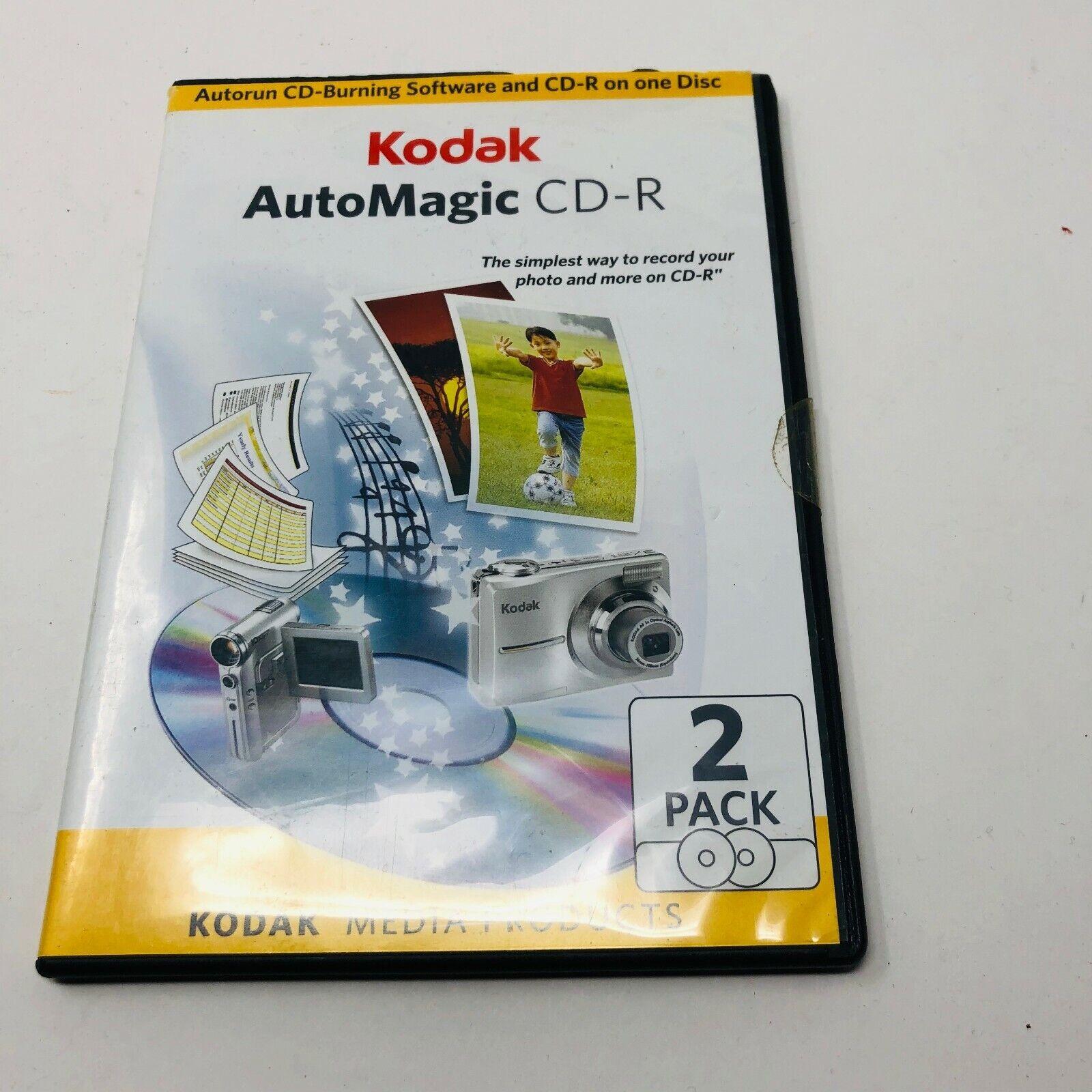 Kodak AutoMagic CD-R Autorun CD-Burning Software and CD-R