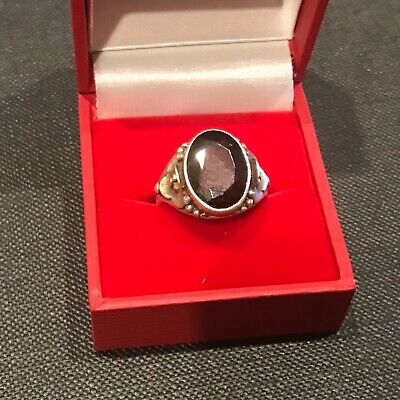 1940s Jewelry Styles and History Man's silver ring with semi precious stone 1940's soldiers size O $102.53 AT vintagedancer.com