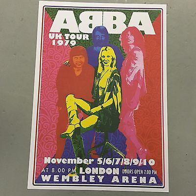 ABBA - UK TOUR CONCERT POSTER WEMBLEY ARENA LONDON 1979 (A3 SIZE)