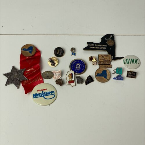 Lot of 20+ Jaycee Pins and Buttons Florida New Jersey New York Mississippi Calif