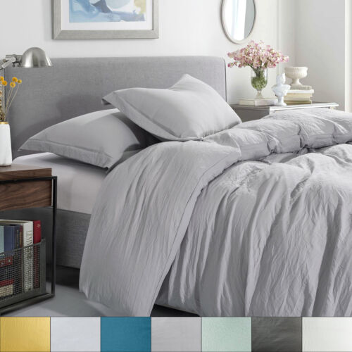 Sweet Home Collection Washed Crinkled Duvet Cover Bedding