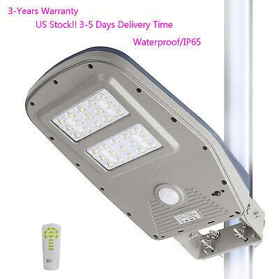 Commercial Solar Street Light Outdoor Ip65 Motion Sensor Night Lighting 1000lm