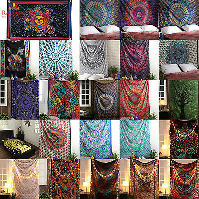 Mandala Tapestry Indian Wall Hanging Decor Bohemian Hippie Twin Bedspread Throw](Hippy Home Decor)