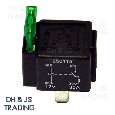 12V Relay 4 PIN Automotive 30AMP 30a Normally Open Contact Fused RY28 + 30a fuse