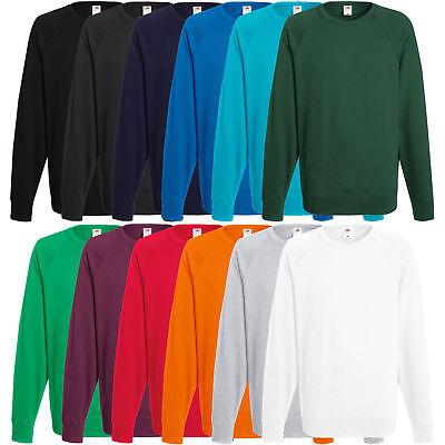 Shirt-jacke (Fruit of the Loom Herren Pullover Sweatshirt Pulli Shirt Jacke S M L XL XXL)