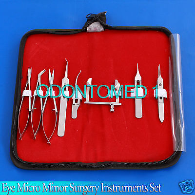 Eye Micro Minor Surgery Ophthalmic Instruments Set 8 Pieces Kit Surgical Ey-052
