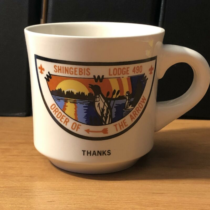 "BSA OA Shingebis Lodge 490 Chapter ""Thanks"" Mug - Mint Condition - Closed Lodge"