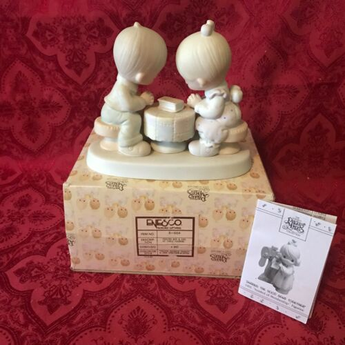 """PRECIOUS MOMENTS 1980 """"E-5214"""" """"PRAYER CHANGES THINGS"""" NEW IN BOX-EXCELLENT"""