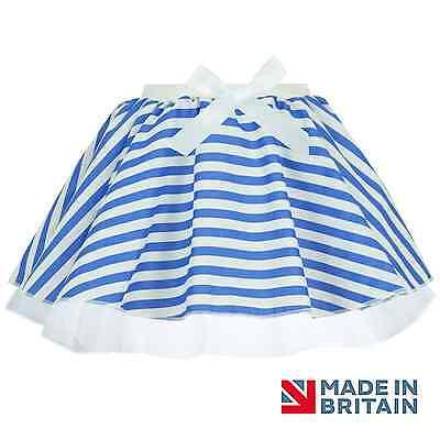 Blue and White Sailor Navy TUTU SKIRT Ballet Fancy Dress Nautical Skirt Dance