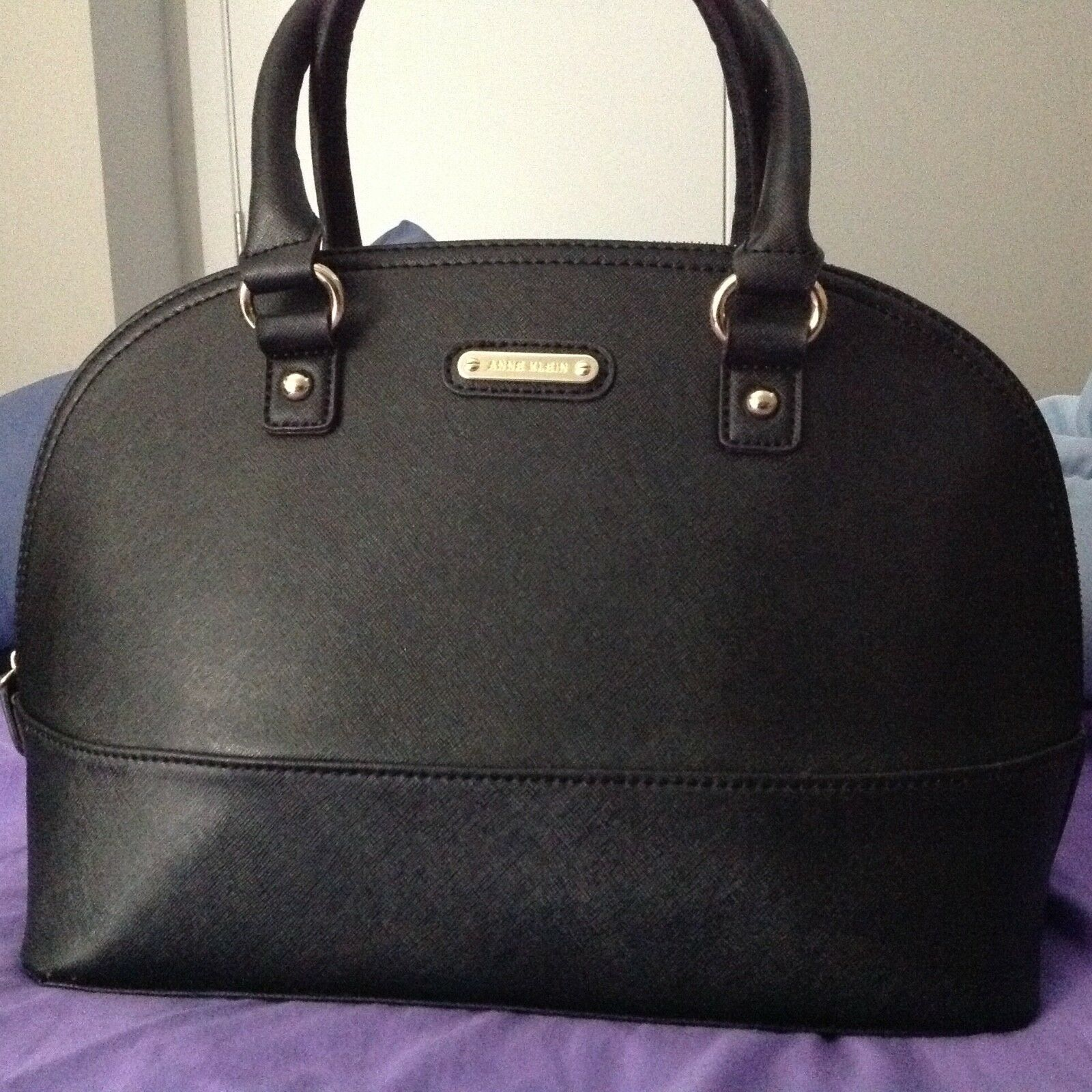 AK Anne Klein Jazzy Geos Large Dome Satchel, Bag, Handbag, P
