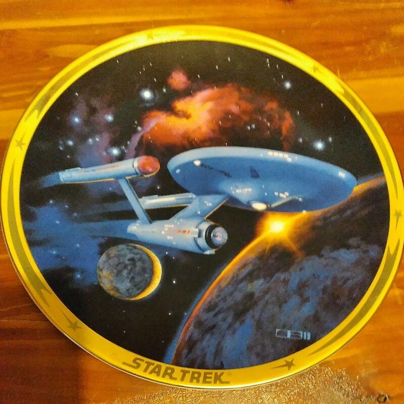 Star Trek U.S.S. Enterprise - Franklin Mint 1994 Collector plate