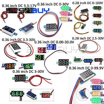 Led Voltage Voltmeter 0.280.36 Dc 3-bits Digital Digital Voltmeter Panel Mount