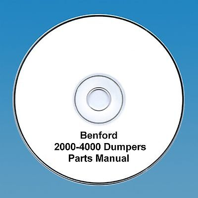 Benford 2000 - 4000 4wd Dumpers -Operators & Parts Manual