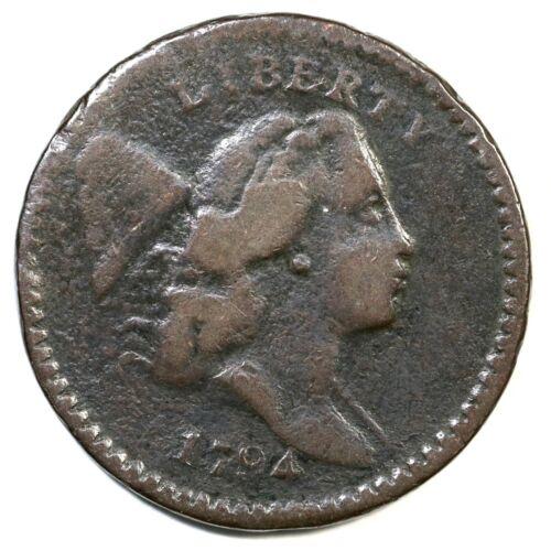 1794 C-8 R-5 Liberty Cap Half Cent Coin 1/2c