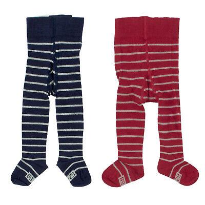 HESSNATUR Baby + Kinder Strumpfhose 45213 Rot Blau Gestreift / 62 – 122 /  Baby-hose Natur