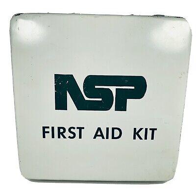 Vintage NSP Northern States Power First Aid Kit Memorabilia Steel White