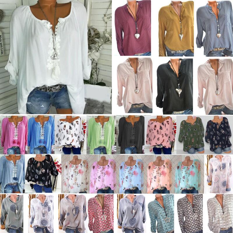 Damen Blumen Bluse Longbluse Longtop Tunika Oberteil Shirts Übergroß 42 44 46 48