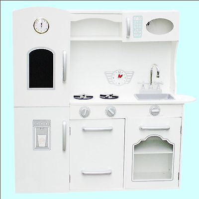 Deluxe Spielküche Kinderküche aus Holz Küche Kinder Spielzeug Holzküche weiss