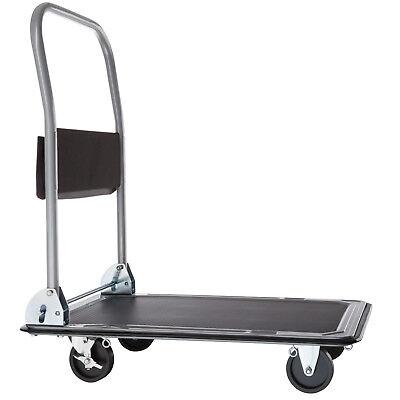 Chariot à plateforme chariot de manutention a transport pliable noir 150kg
