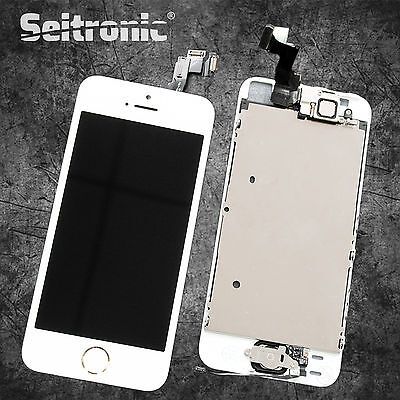 Display für iPhone 5S VORMONTIERT KOMPLETT mit RETINA LCD Glas Front WEISS WHITE