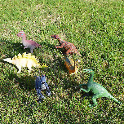 6Pcs Large Assorted Dinosaurs Toy Plastic Action Figure Model Kids Children Gift