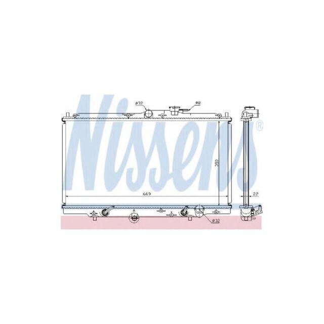 Genuine Nissens Engine Cooling Radiator - 633141