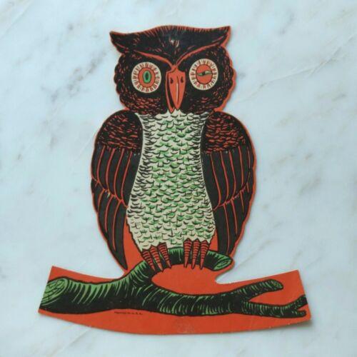 "Rare 10"" VTG BEISTLE OWL Standing Table Decoration HALLOWEEN DIECUT Non-Embossed"
