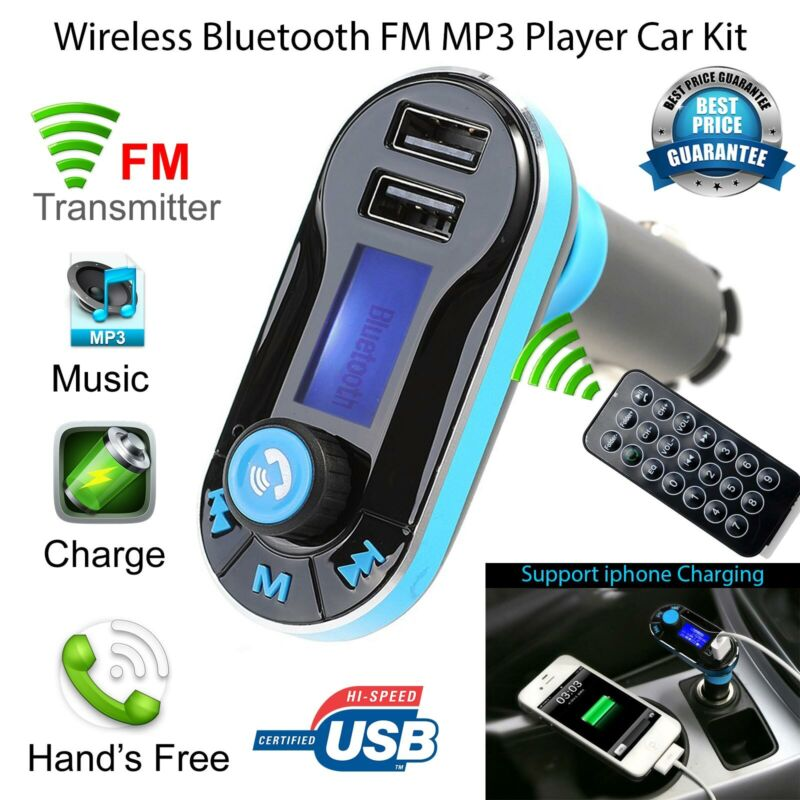 Car Bluetooth Wireless Radio FM Transmitter Handsfree LCD MP3 Player USB charger