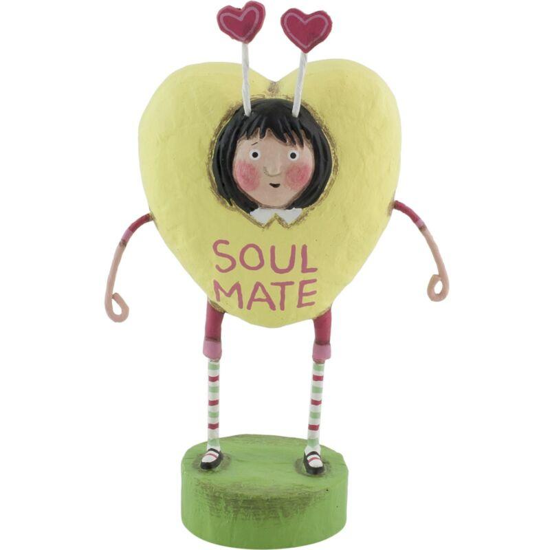 Lori Mitchell Soul Mate Valentines Day Candy Heart Figurine Folk Art Figure