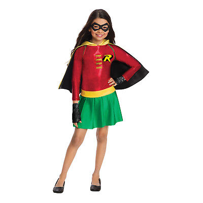 Robin Costumes For Girls (Robin Deluxe Girls Costume DC Superhero Teen Titan Cosplay Size Small 4-6)