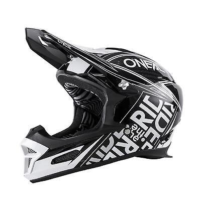 ONeal Fury RL Helm Fuel Schwarz Weiß Mountainbike Fahrrad MTB Downhill Freeride