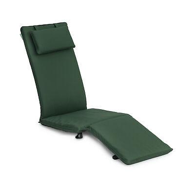 Green Replacement Steamer Chair Cushion Pad Sun Lounger Garden Patio Recliner