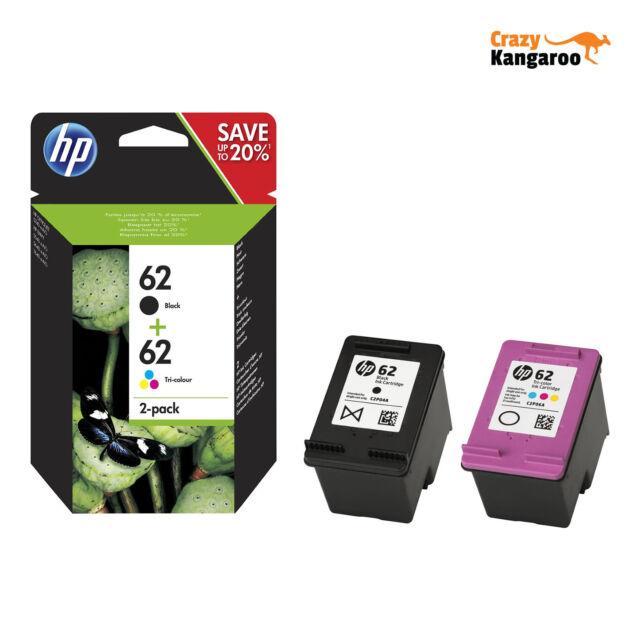 HP 62 Black & Colour Ink Cartridge Combo Pack For ENVY 5640 Inkjet Printer
