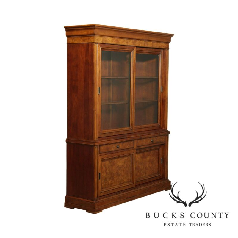 Ethan Allen Townhouse Sliding Door Bookcase China Cabinet