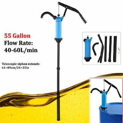 Lever Action Hand Barrel Pump Water Petrol Oil Diesel Fuel Drum Pump 55 Gallons