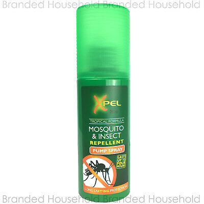 XPEL MOSQUITO & INSECT REPELLENT PUMP SPRAY TRAVEL HOLIDAY TROPICAL FORMULA 70ML